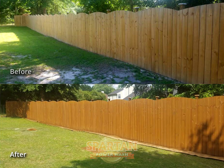 Wood Fence Cleaning Restoration Columbia SC