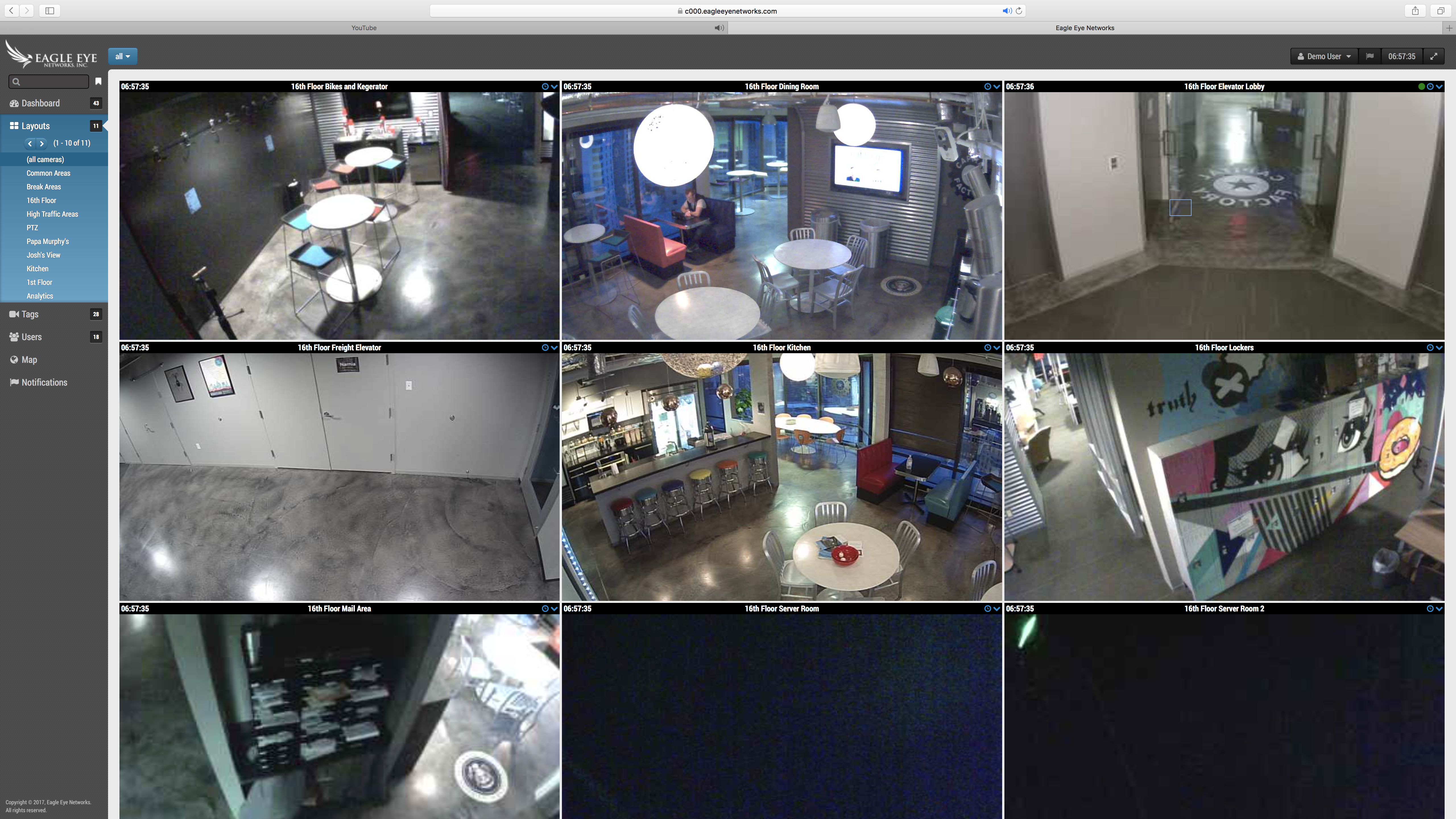 Screen Shot Eagle Eye Networks video surveillance CCTV security camera Austin
