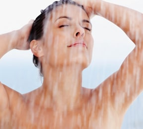 Number 2 on our home remedies for dry skin is to cut down on shower time
