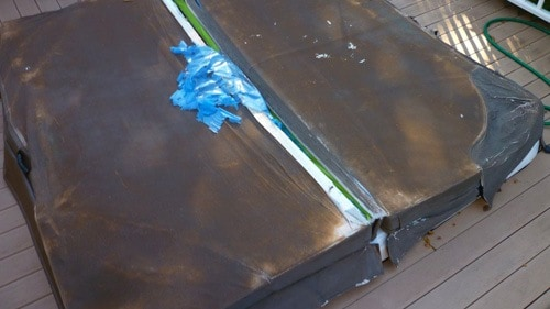 Even a hot tub cover made of kevlar can't withstand the damaging effects of the sun.