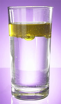 ALA is amphiphilic unlike oil and water.