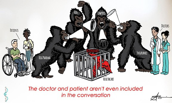 When it comes to achieving optimal health… The doctor and the patient aren't even included in the conversation