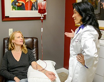 Ozone therapy is being administered via autohemotherapy