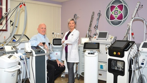 One of the operating suites at AMA Regenerative Medicine & Skincare where they have dozens of lasers