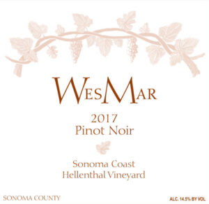 WesMar Winery Hellenthal Vineyard 2017 Pinot Noir