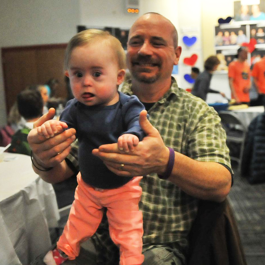 Chris Charette, of Fort Edward holds his 2 1/2-year-old daughter Alice