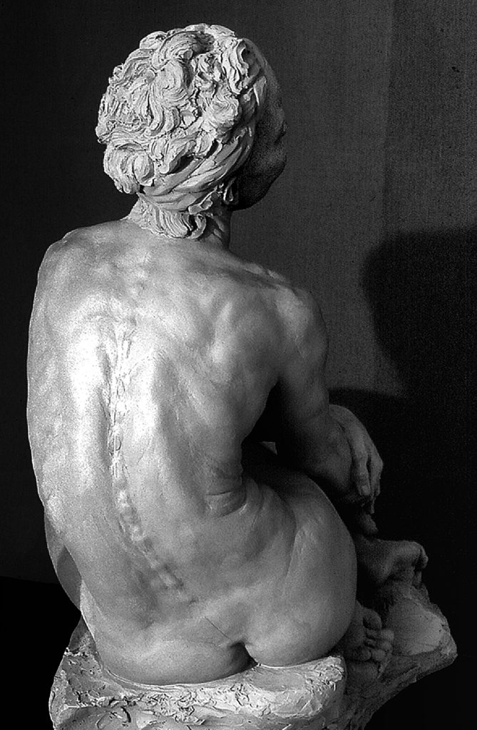 Seated Siren, by P. Brad Parker (rear view)