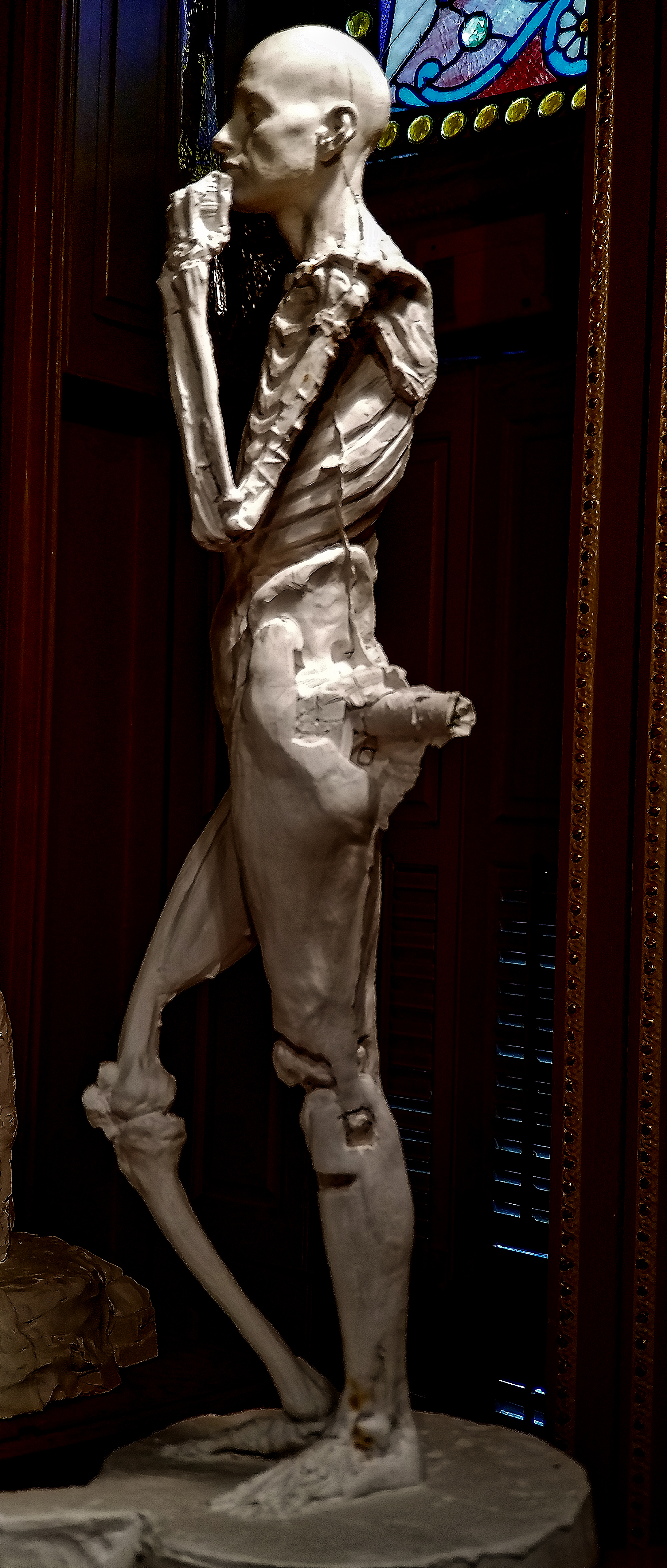Anatomy Figure Class Demonstration Sculpture, Plaster - unchased - raw, Ana Russian Left Side View 6