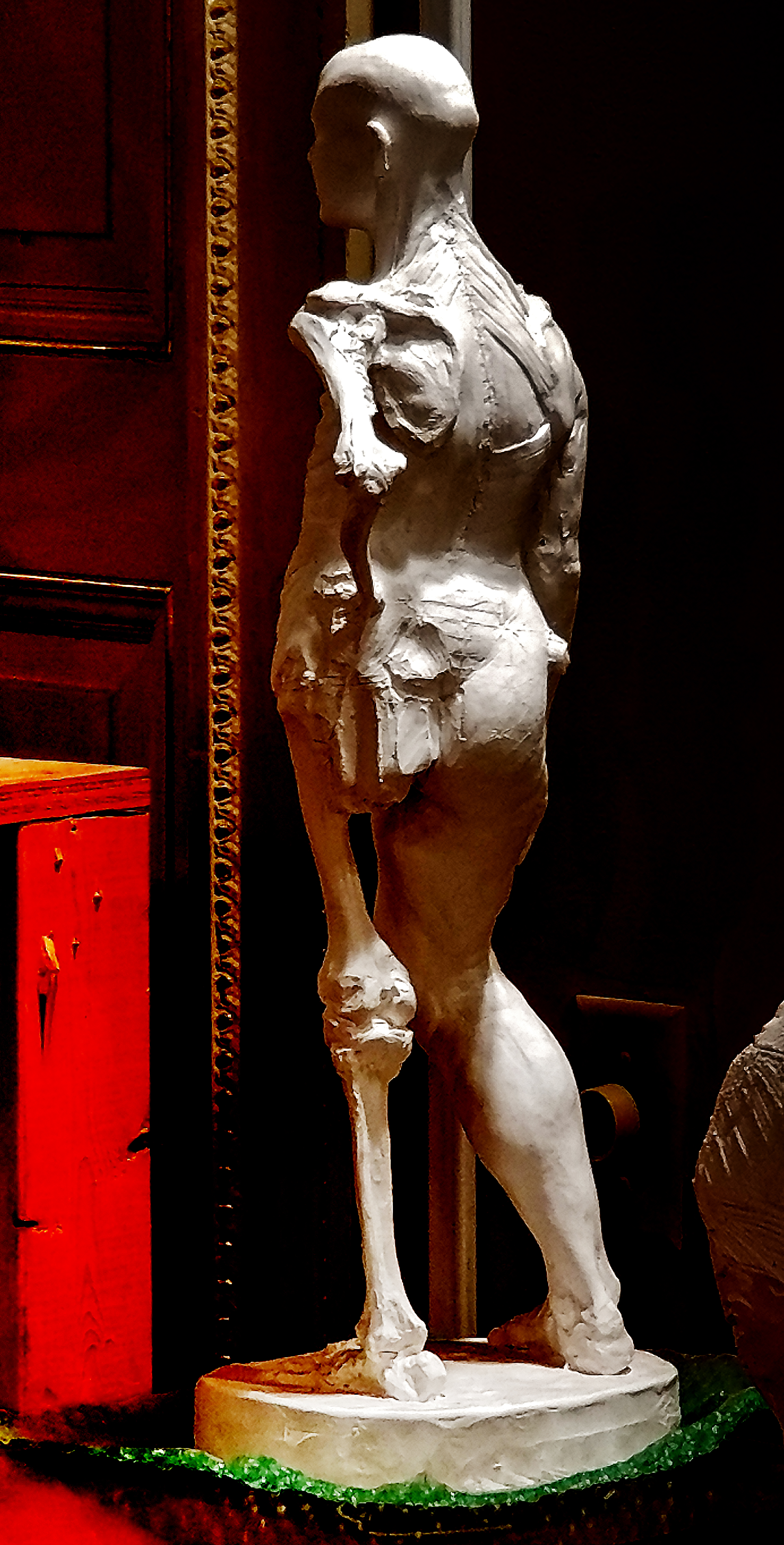 Anatomy Figure Demonstration Sculpture From Class, Plaster - unchased - raw, Anna Prussian Back Left