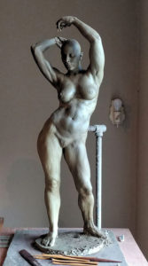 Female Standing Figure Unfinished From Life Model by P. Brad Parker