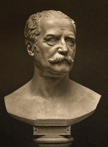Field Marshal Blücher, Plaster cast, original modeled 1815, sculpted by Christian Daniel Rauch