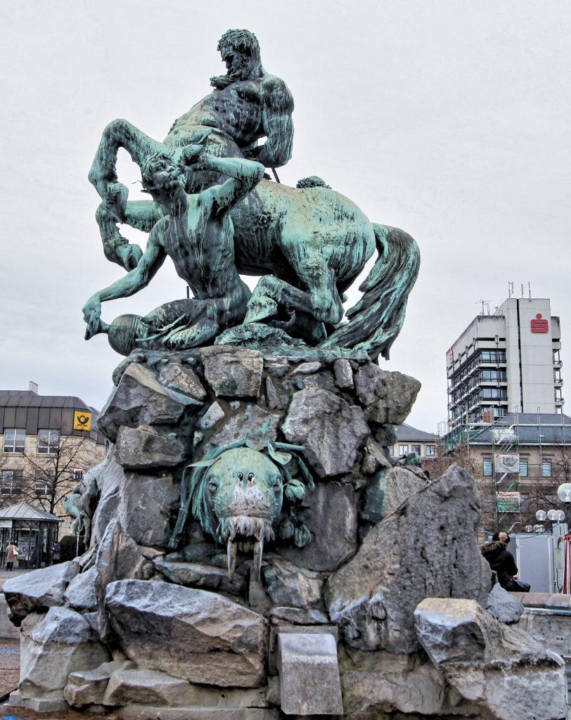 Rudolf Maison The Centaurenbrunnen at Station Square in Fürth, Germany, 1890