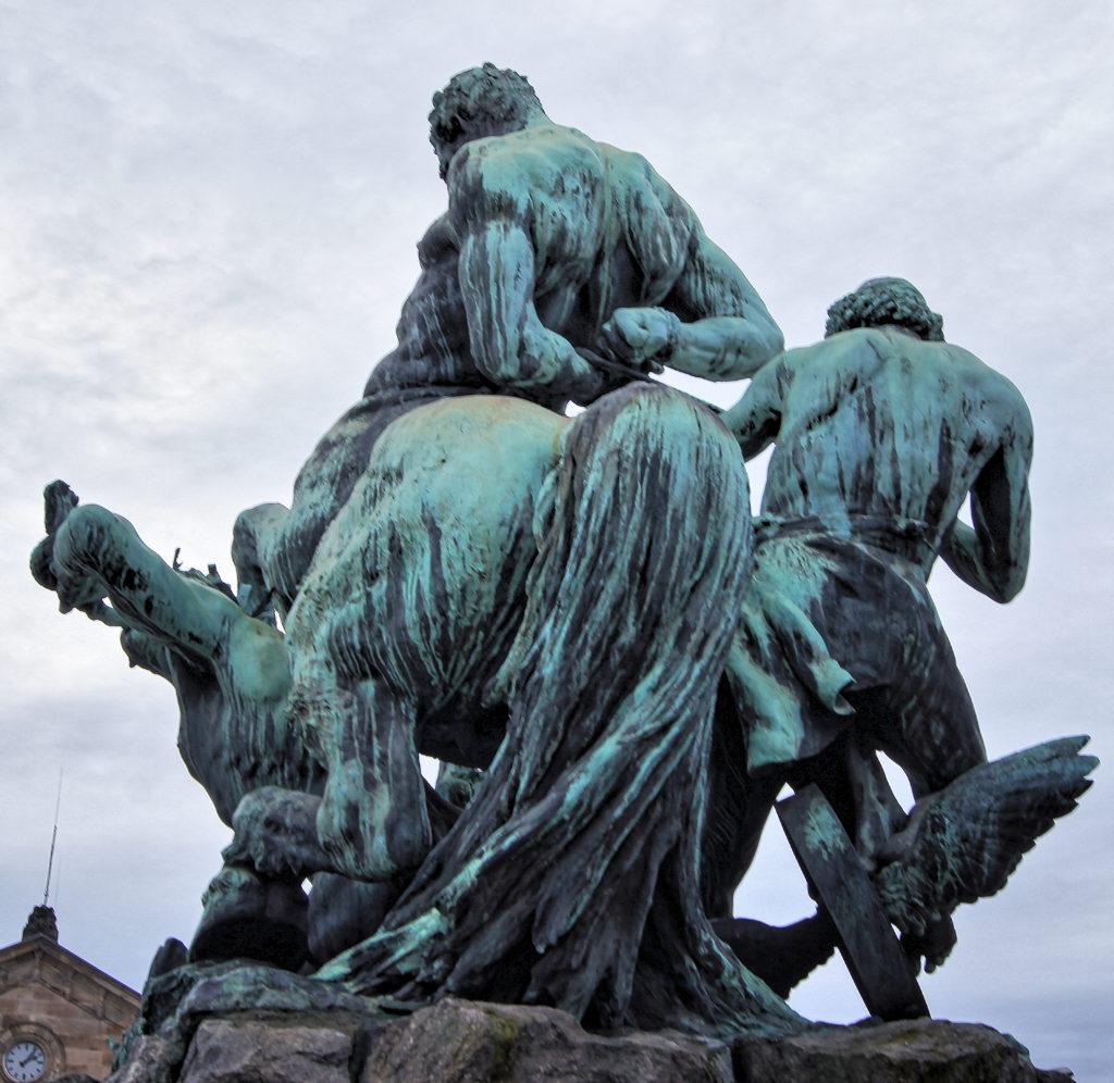 Rudolf Maison The Centaurenbrunnen at Station Square in Fürth, Germany, 1890.