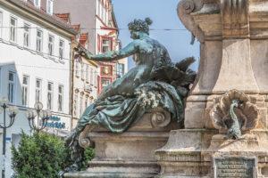 Heinze Hoffmeister - Bildhauer - Angerbrunnen, Erfurt, Thueringen - Kaiser Wilhelm I & II Denkmal