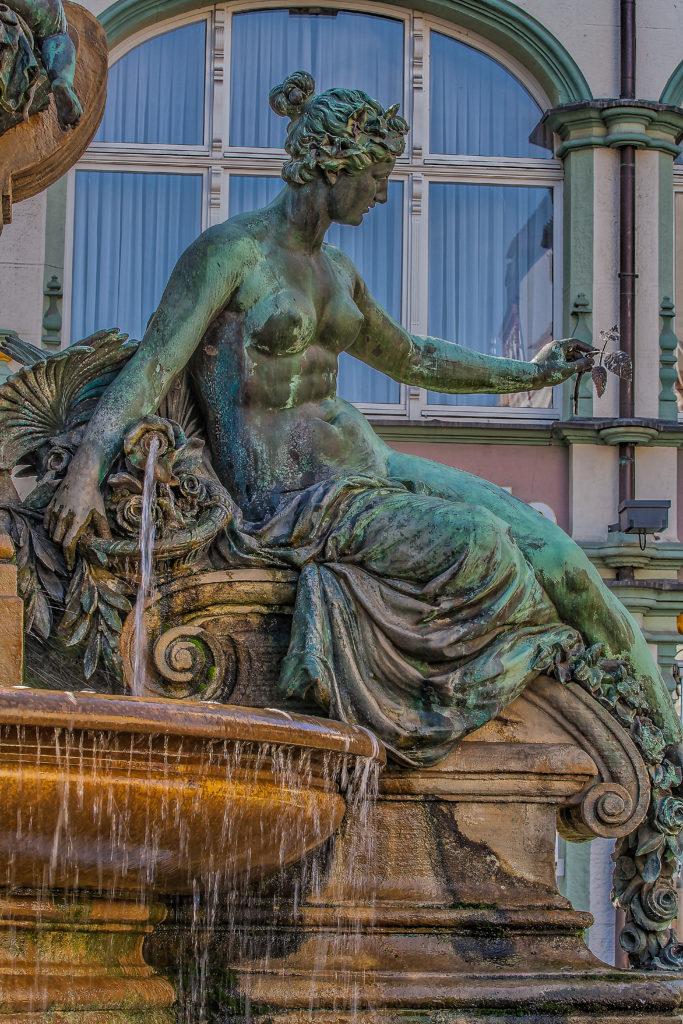 Angerbrunnen - Kaiser Wilhelm I & II Denkmal, Erfurt, Thueringen, - bildhauer Professor Heinz Hofmeister, (1851 Saarlouis – 1894 Berlin), Architekt Friedrich Heinrich Stöckhardt, (born August 14, 1842 in St. Petersburg, † June 4, 1920 in Woltersdorf), the monument was inaugurated 1890
