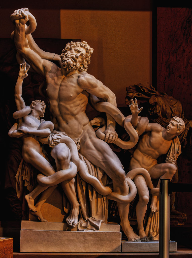 Laokoon - Hellenistic, Greco-Roman copy - Vatican Museum, Rome, Plaster Munich