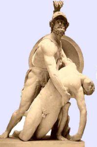 Menelaus Carrying the Body of Patroclus (Ajax Carrying the Body of Achilles) ca. 200-150 BCE - reconstruction - Bernhard Schweitzer (archaeologist) 1936 - Halle/Leipzig