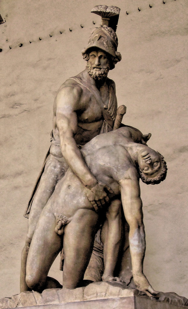 Menalaus holding the body of Patroclus - Florence, Loggia