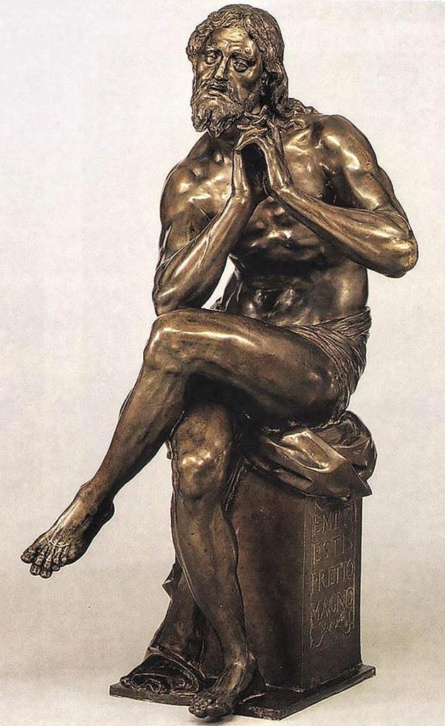 Adriaen de Vries - Seated Christ, bronze, Lichtenstein