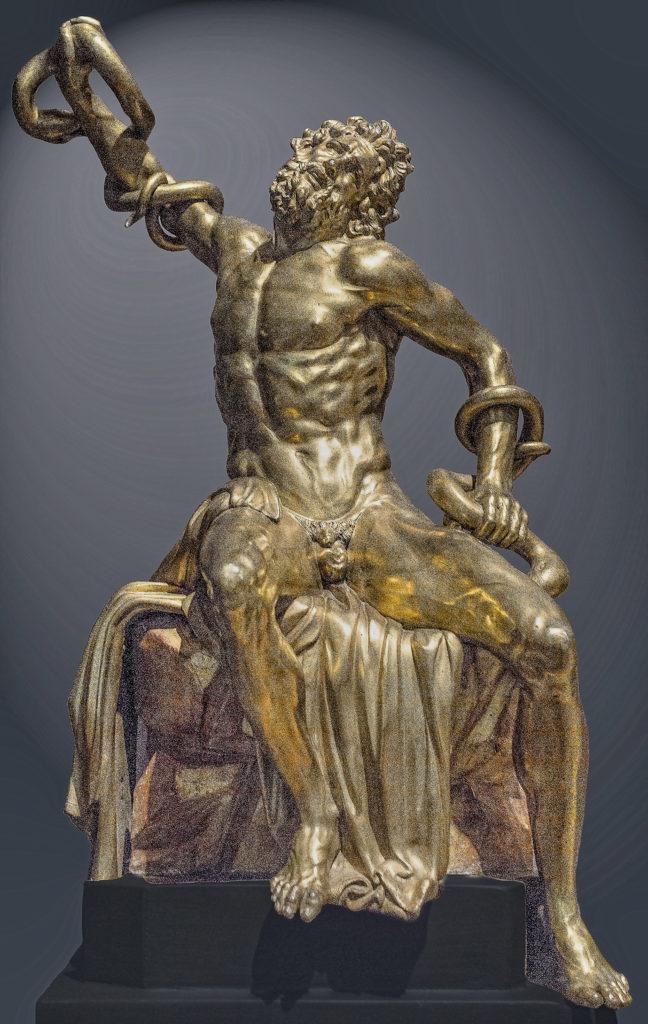 Adriaen de Vries, Laocoon 1600-25, gilded bronze, 58 x 39.5 x 23.2 cm, Statens Museum for Art / National Gallery of Denmark, Copenhagen, Statens Museum for Art Copenhagen