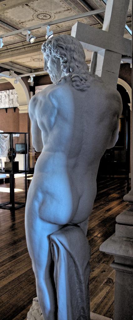 Michelangelo Buonarotti, 1521, Original: S. Maria sopra Minerva, Rome, Der auferstandene Christus, Christ Risen, Plaster, Lindenau-Museum, Altenberg, Sächsische Schweiz-Osterzgebirge, Germany, seitlich