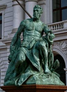 Gustav Eberlein - Bild Kaiser Wilhem Altona, Detail - Der Krieger
