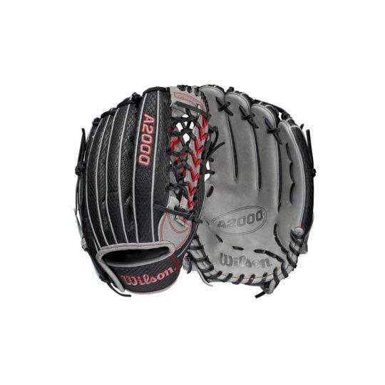 "Wilson A2000 12.25"" Outfield Glove Black/Grey '21"