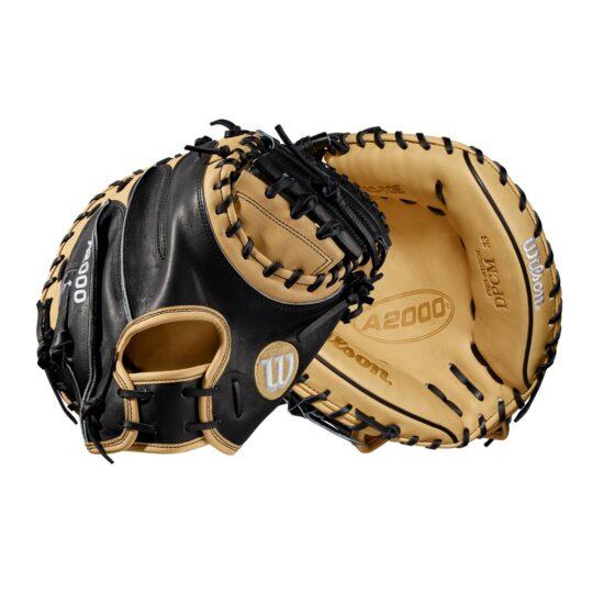 """Wilson A2000 33""""Catcher's Mitt Black/Blonde '21"""