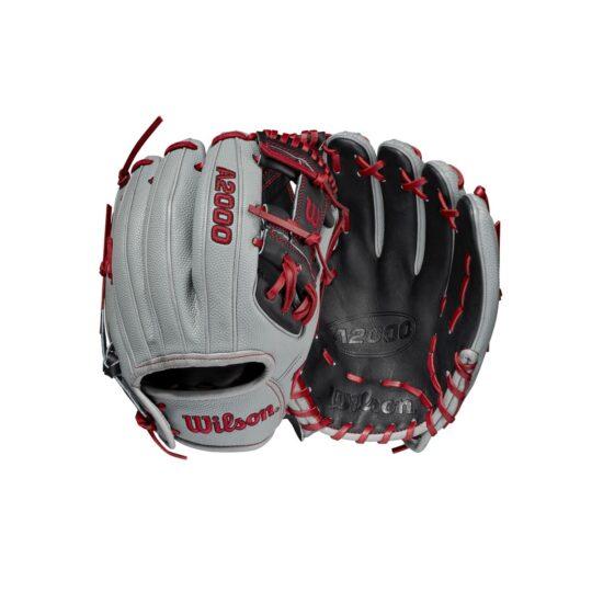 "Wilson A2000 11.5"" Infield Glove Grey/Black/Scarlet '21"