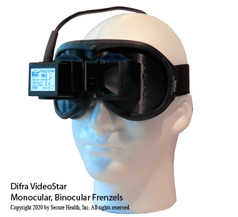 Difra Video Frenzel Goggles, videonystagmography
