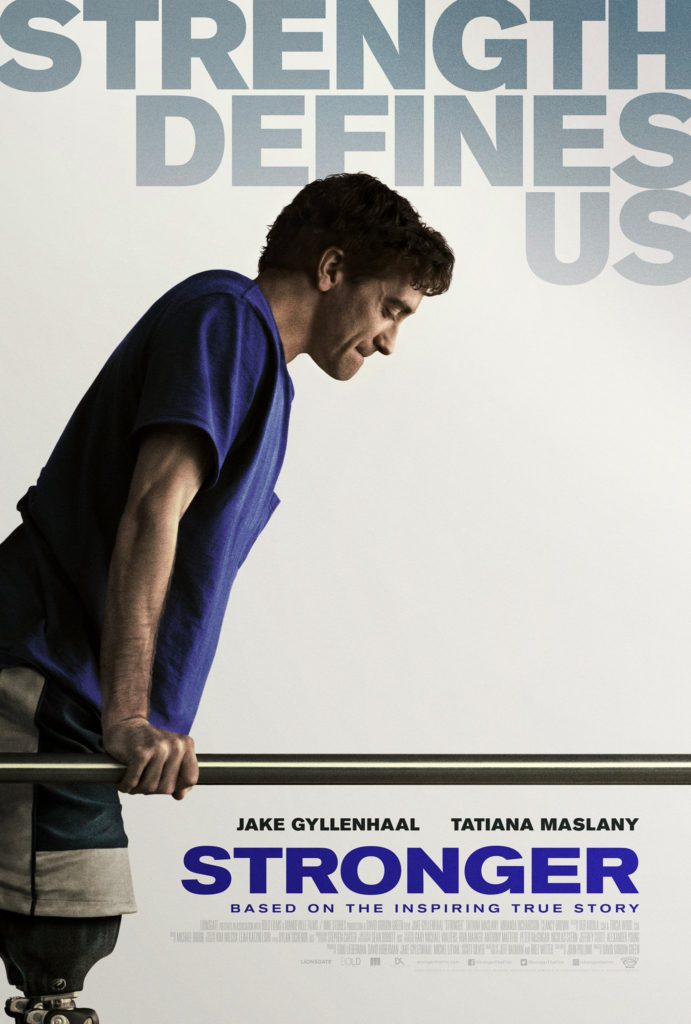 Stronger movie with Jake Gyllenhaal and Tatiana Maslany