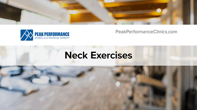 Neck Strengthening Exercises Thumbnail