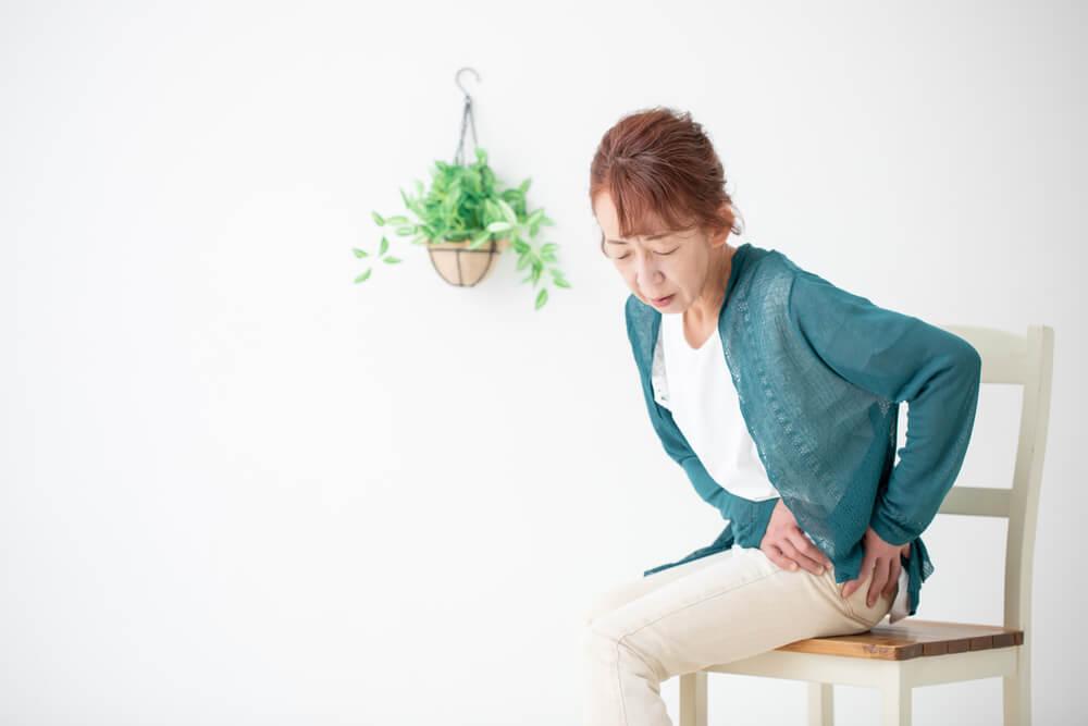 pelvic pain when sitting down