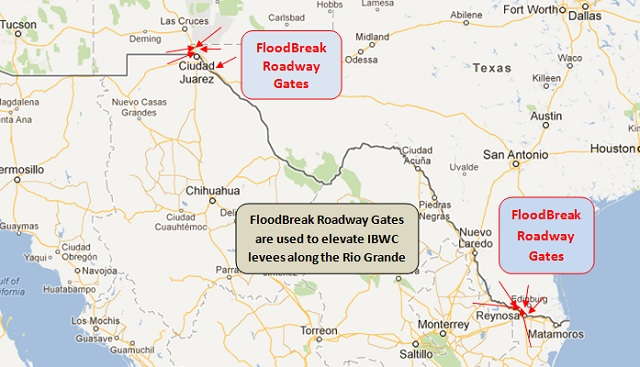FloodBreak is helping the IBWC raise levee elevations to comply with FEMA requirements for accreditation