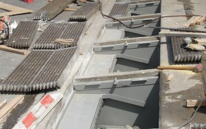 The FloodBreak vent shaft flood protection system sits below street level grating