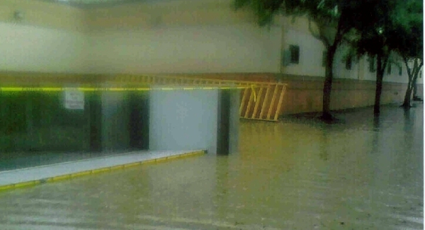 FloodBreak Automatic Floodgate deployed to protect against street flooding