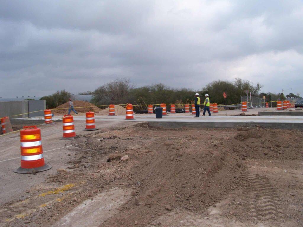 FloodBreak gates under construction
