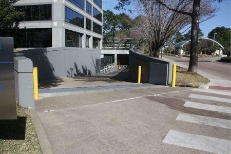 flood barrier outside hospital