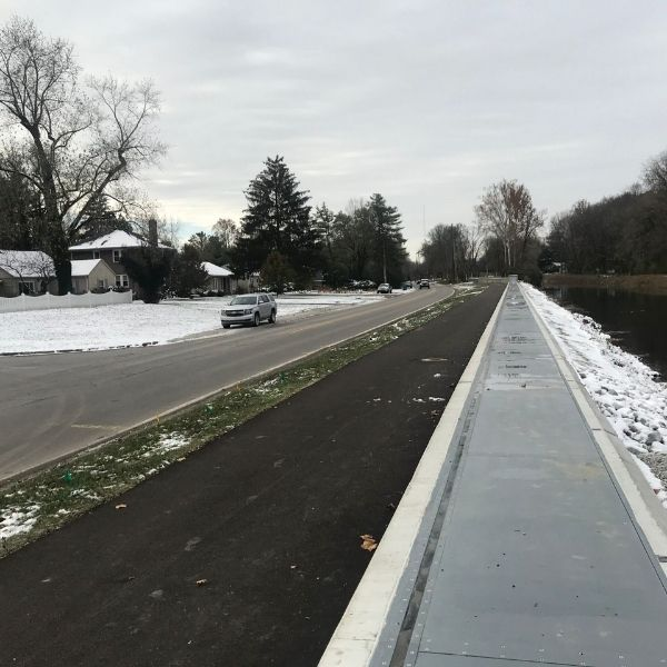 freeview flood barrier in snow