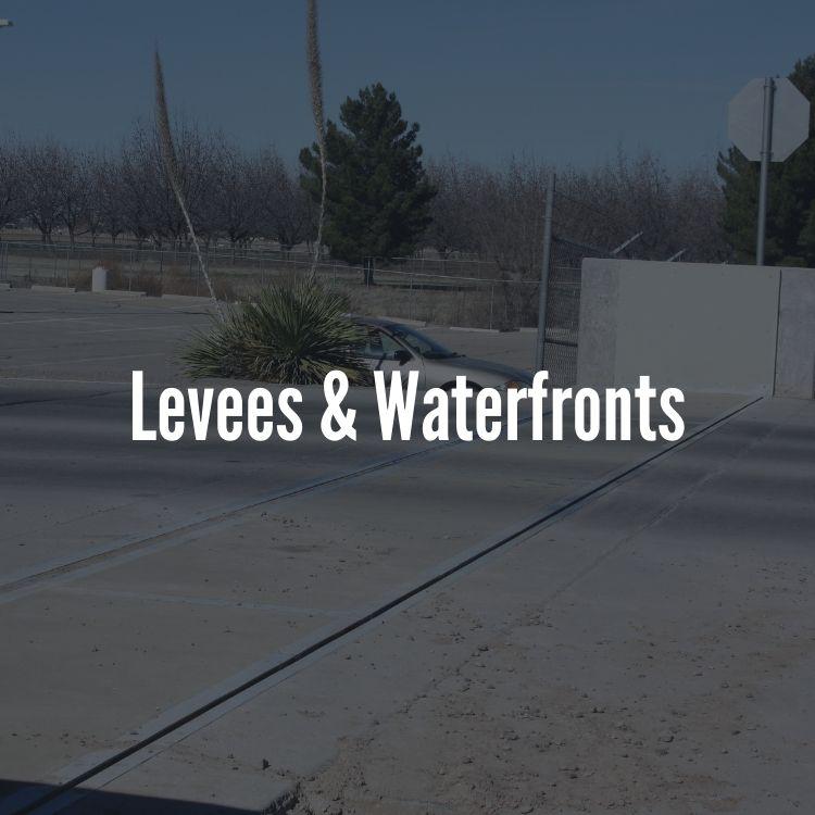 levee crossing flood barrier