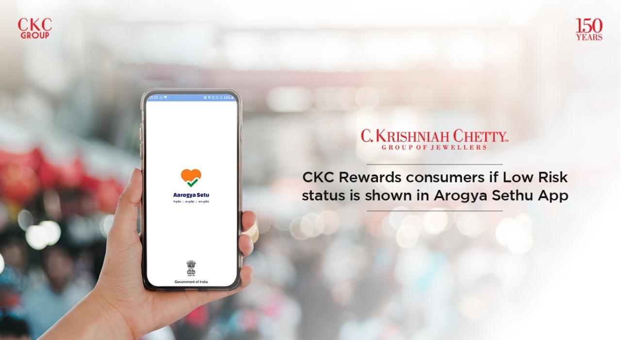 CKC Rewards consumers if Low Risk status is shown in Arogya Sethu App