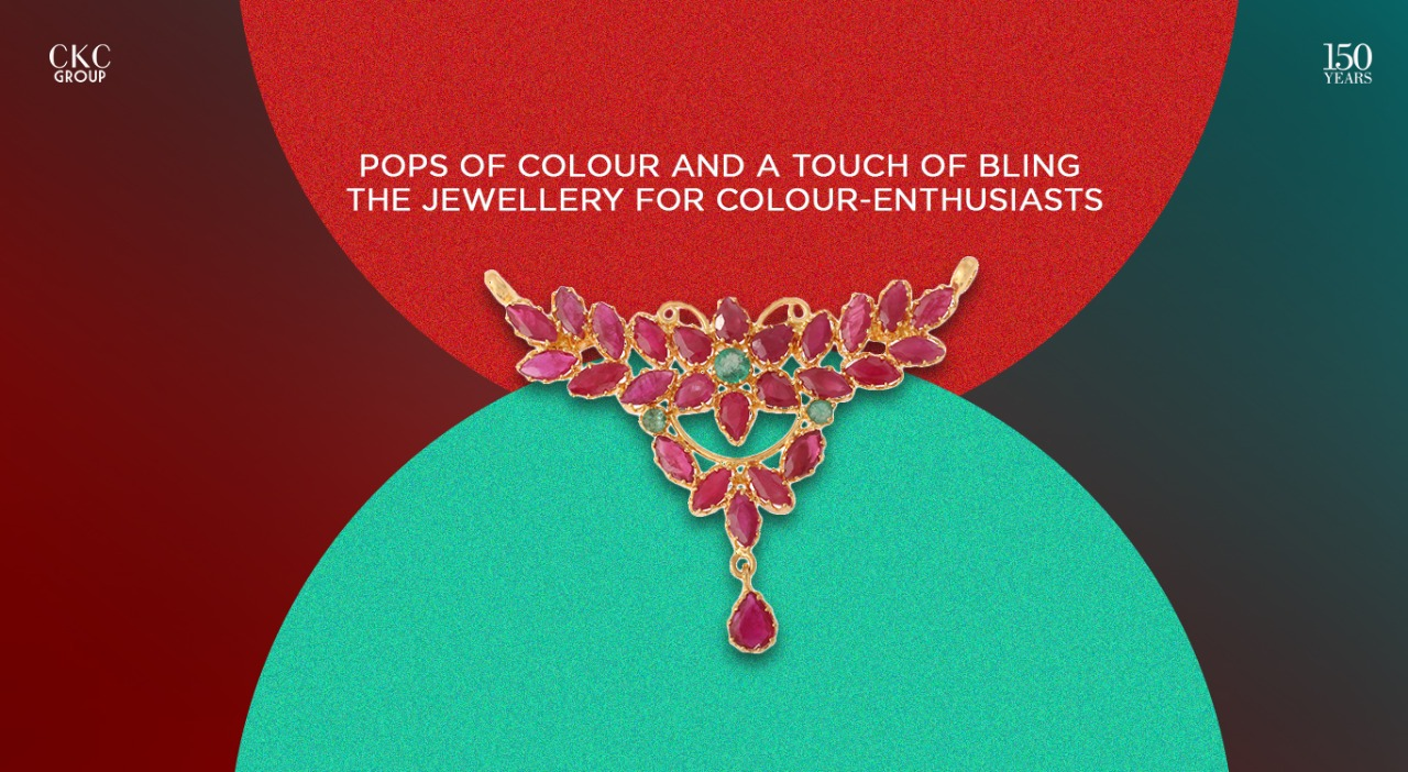 Pops of Colour and a Touch of Bling