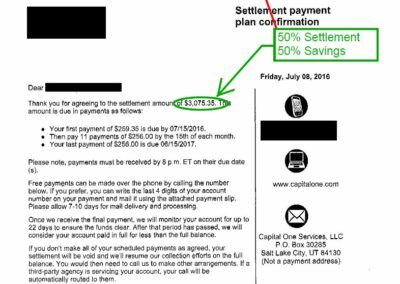 July 2016 Debt Settlement 3