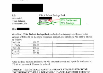 October 2016 Debt Settlement 1