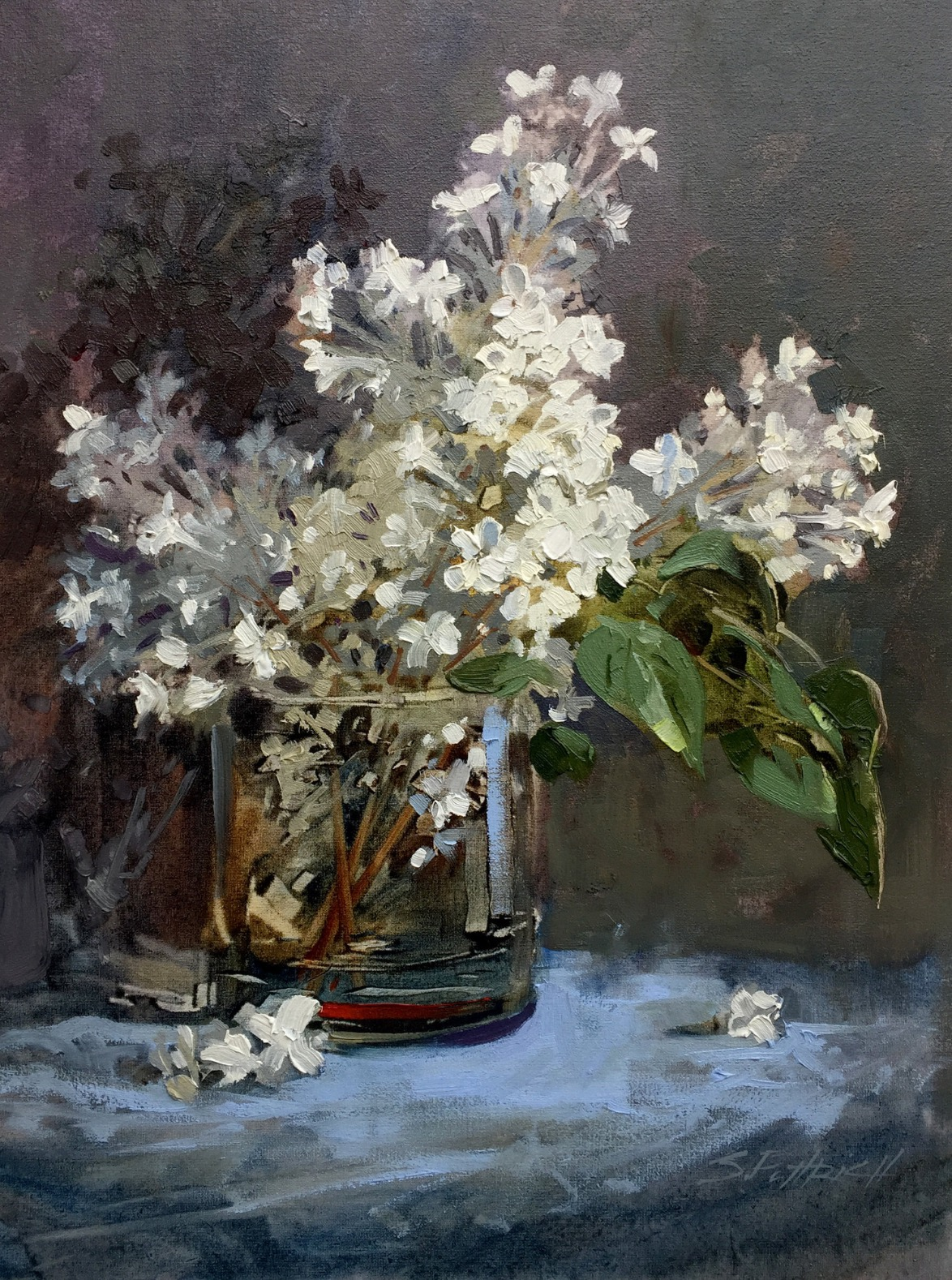 Puttrich Lilacs in a Glass