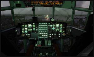 Tableau de bord d'un C-130 Hercules en finale pour Prince George, Canada
