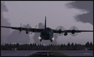 C-130 Hercules avec double panne moteur en finale pour Prince George, Canada