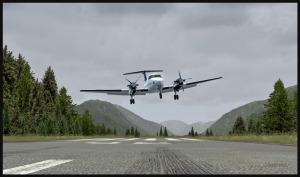 Correction de dernière minute pour l'atterrissage d'un BE-20 King Air avec double panne de moteur.