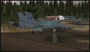 F18 quitte la piste de Squamish