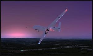 RQ-4B Global Hawk vire en base pour l'aéroport de Williams Lake, Canada (FSX)